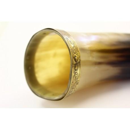 Horn m. udsmykning